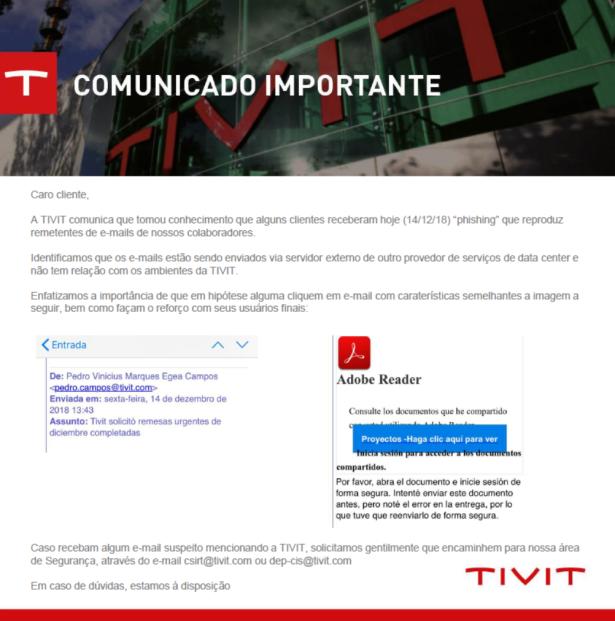 TIVIT Comunicado